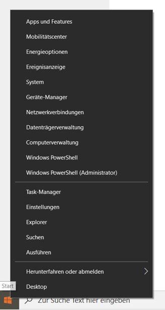 Windows-Startmenü