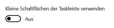 Taskleiste - Kleine Icons