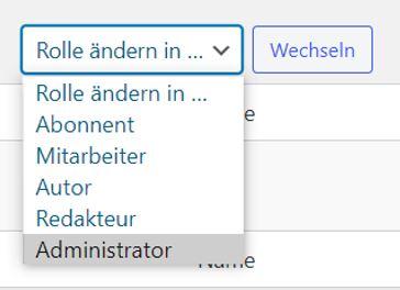 WordPress - Benutzerrollen