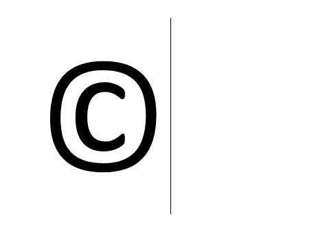 Copyright-Zeichen erstellen